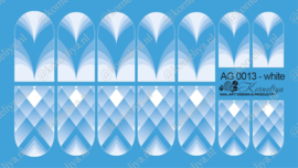 Airbrush Waterdecal   AG 0013 White