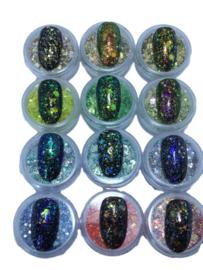 HOLO Glitter Mix SET met 12 Stuks
