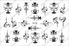 3D Waterdecal - 3D 36 Black