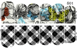 Water Decal Nail Wrap 801