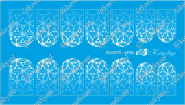 Airbrush Waterdecal   AG 0011 White