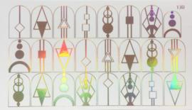 Korneliya Folie Decal 130 Holografisch Goud