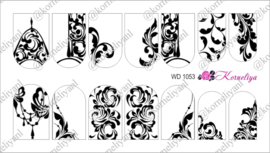 Water Decal - Nail Wrap WD 1053