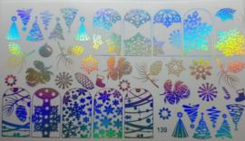 Foil Wrap 139 Holografisch Zilver - Kerst Design 139
