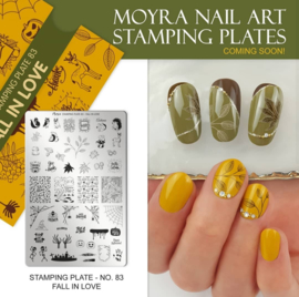 Moyra Stamping Plate 83 Fall in Love