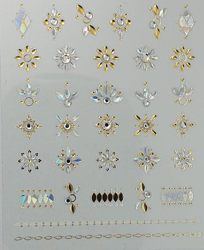 3D Jewels  DeLuxe - DL6 Silver, Gold and Diamonds