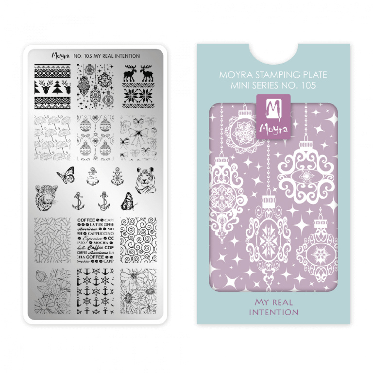 Moyra Mini Stamping Plate 105 My Real Intention