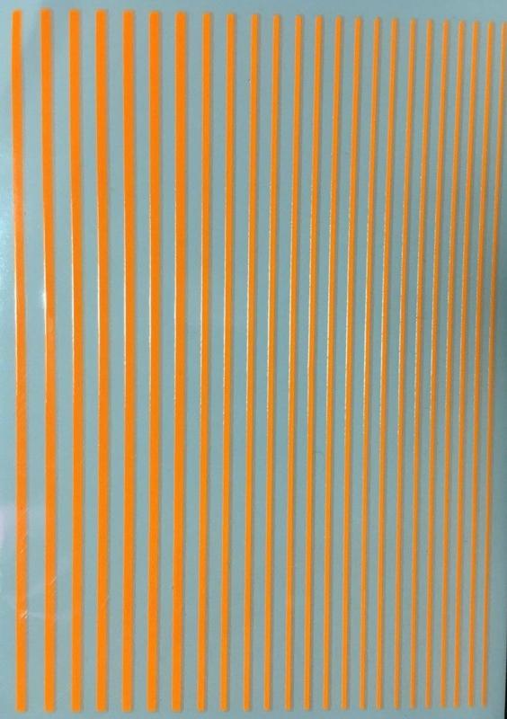 Korneliya Nailart Strip Neon Oranje