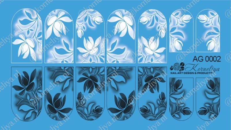 Airbrush Waterdecal   AG 0002 combi