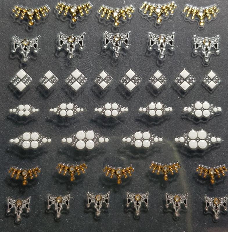 3D Nail Jewels - NJ08 Lunula Crowns