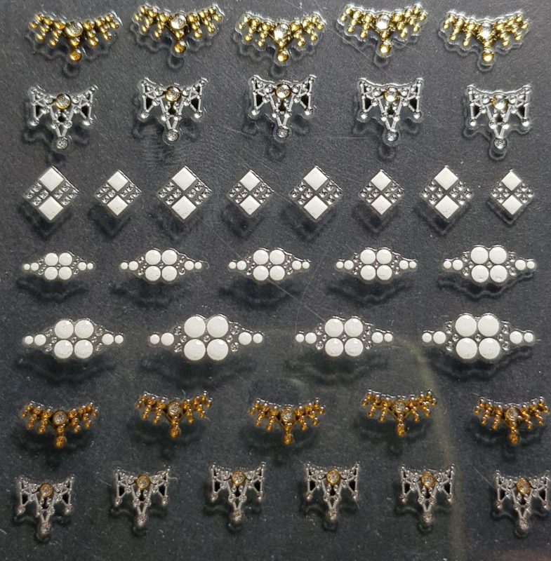 3D Juwel Stickons Nr 8 Lunula Crowns
