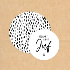 Stickers XL | Hand drawn dots | Wit
