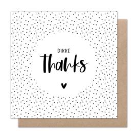 Dubbele kaart | Dikke thanks