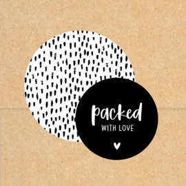 Stickers | Packed with love | Zwart