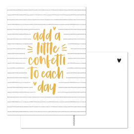Kaart | Add a little confetti to each day