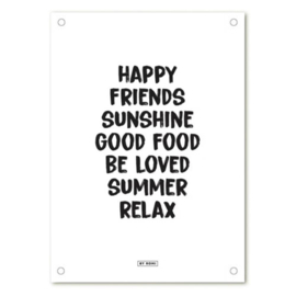 Tuinposter | Happy, friends, sunshine
