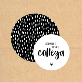 Stickers XL | Hand drawn dots | Zwart