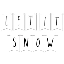Kerstslinger DIY | Let it snow