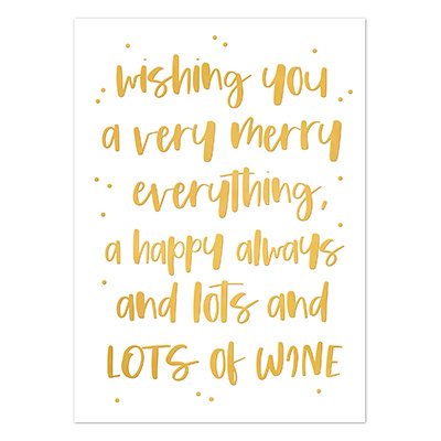 Kerstkaart | Wishing you a very merry everything