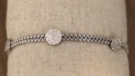 ZAG armband dubbel met glitter rondjes