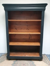 """Zwarte boekenkast / servieskast / keukenkast/open kast """"Pure Black"""""""