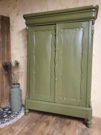 """Antieke Biedermeier linnenkast / kinderkledingkast """"Verde""""  groen"""