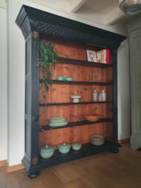 """Grote boekenkast / servieskast / keukenkast """"Pure Black"""""""