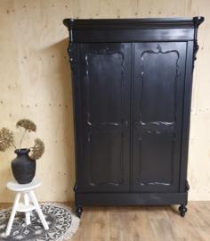 Antieke mahonie Biedermeier linnenkast / kledingkast Pure Black