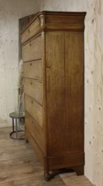 Antieke brocante landelijke Biedermeier ladekast / chiffonnière