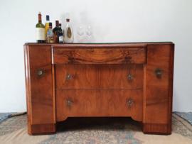 Art Deco dressoir / cocktailbar vintage retro