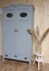 "Art Deco kast / kinderkamerkast ""Scandinavian Blue"""