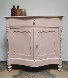 Antieke Biedermeier penantkast / commode Pink / Antique Rose