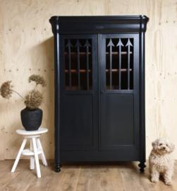 Antieke Biedermeier meidenkast Pure Black zwart