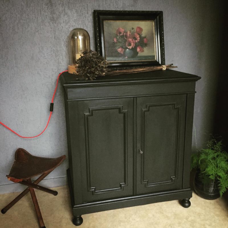Tv Kast Antiek Art.Antiek Stoer Landelijk Dressoir Commode Tv Kast Pure Black