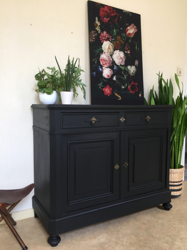 Tv Kast Antiek.Antieke Grote Penantkast Commode Tv Kast Pure Black