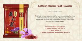 Saffron foot bath powder