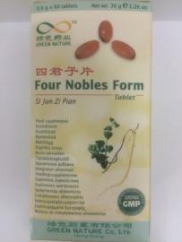 Si jun Zi pian - Four nobles form