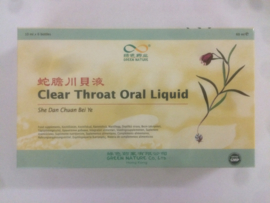 She dan chuan bei ye - Clear throat oral liquid- 10ml x 6Btl