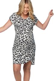 Bae I Zwangerschapsjurk Off Duty Tee - Leopard (maat XS)