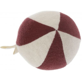 Konges Sløjd | Petit Toy Ball Striped Bordeaux/Nature