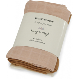 Konges Sløjd | 3 Pack Muslin Cloth Rose