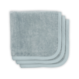 Jollein Mouth wipes velvet terry 30x30cm stone green 3pack