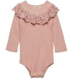 MarMar romper Bibbi Jersey Dusty Rose