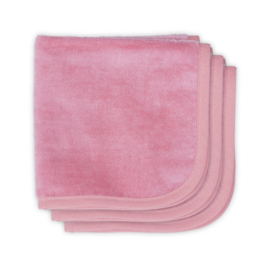 Jollein Mouthcloth velvet terry 30x30cm coral pink