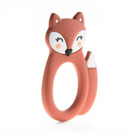 Little Cheeks - Teething Ring Fox maroon