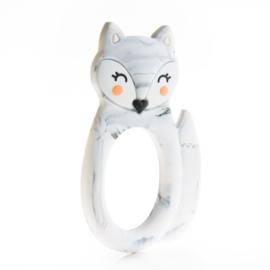 Little Cheeks - Teething Ring Fox marble
