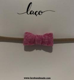 Laco Haarband Strikje Roze