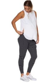 Bae I Zwangerschapsbroek Beating Heart Lounge - Navy Stripes