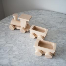"Sarah & Bendrix Trekspeelgoed Hout ""Train with wagons"""