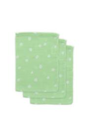 Jollein Hydrofiel washandje Little Lemonade Dots green (3pack)